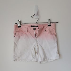 Vigoss girls ombre white to pink shorts